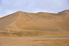 Deserto in gansu Fotografia Stock Libera da Diritti