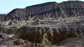 Deserto geológico Ca de Borrego das camadas video estoque