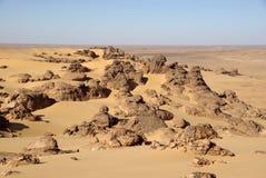 Deserto líbio Fotos de Stock