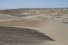 Deserto litoral do Peru fotografia de stock