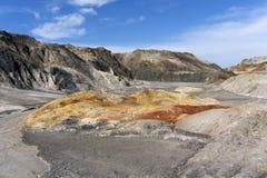 Deserto montanhoso paisagem colorida imagem de stock