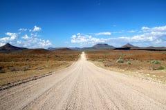 Deserto Namibia Africa della strada Fotografia Stock Libera da Diritti