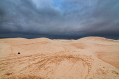Deserto nebuloso Imagem de Stock Royalty Free