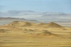 Deserto nel parco nazionale di Paracas, Perù Fotografia Stock