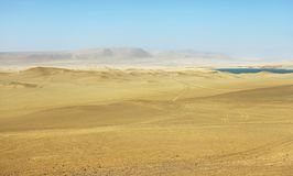 Deserto nel parco nazionale di Paracas, Perù Fotografia Stock Libera da Diritti