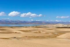 Deserto nel Tibet Fotografia Stock