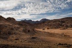Deserto nell'Egitto Fotografie Stock