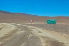 Deserto nella parte settentrionale del Cile Fotografie Stock Libere da Diritti