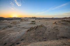 Deserto no por do sol Imagens de Stock Royalty Free