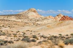 Deserto no vale do parque estadual do fogo Imagem de Stock