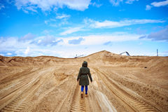Desertoost-apocalíptico de Ð Imagem de Stock