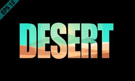 Deserto, parola isolata royalty illustrazione gratis