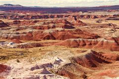 Deserto pintado infinito fotos de stock royalty free
