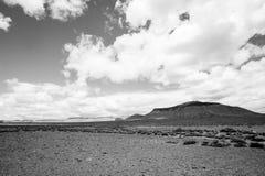 Deserto preto e branco Fotos de Stock