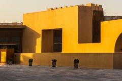 Deserto quadrado do Oriente Médio da arquitetura que constrói Deta exterior Imagens de Stock