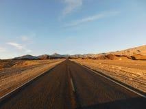 Deserto Road Fotografie Stock