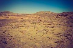 Deserto rochoso, a peninsula do Sinai, Egito Imagem de Stock