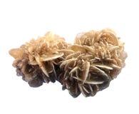Deserto Rose Selenite Gemstone Stratificato, bianco e marrone fotografia stock