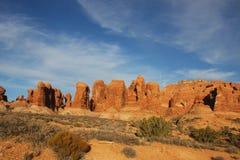 Deserto rosso della roccia Fotografia Stock