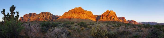 Deserto rosso della roccia ad alba immagini stock libere da diritti