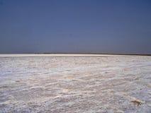 deserto senza fine del sale nella depressione di Danakil l'etiopia immagine stock