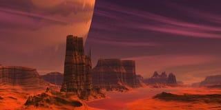 Deserto straniero rosso Fotografia Stock