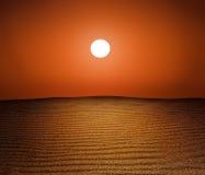 Deserto Sun Fotografia Stock Libera da Diritti
