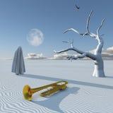 Deserto surreal ilustração royalty free