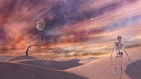 Deserto surreal ilustração do vetor