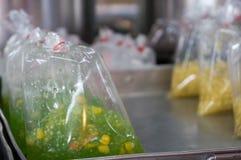 Deserto tailandese dolce sul mercato locale di un agricoltore in Chiang Mai Fotografia Stock Libera da Diritti