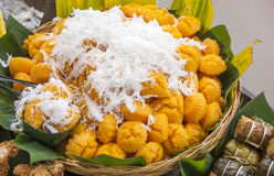 Deserto tailandese - palma Sugar Pudding Fotografie Stock