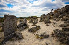 Deserto Varna Bulgária da pedra de Forest The da pedra de Pobiti Kamani Fotografia de Stock