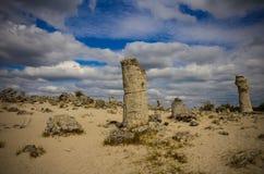 Deserto Varna Bulgária da pedra de Forest The da pedra de Pobiti Kamani Fotos de Stock Royalty Free