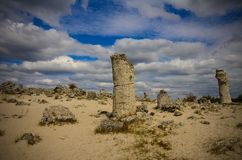Deserto Varna Bulgaria della pietra di Forest The della pietra di Pobiti Kamani Fotografie Stock Libere da Diritti
