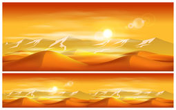 Deserts and sandstorms Stock Photos
