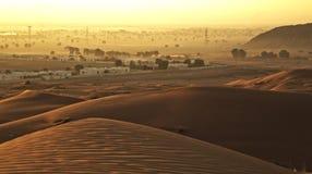 Desertscape door de rots Stock Foto's