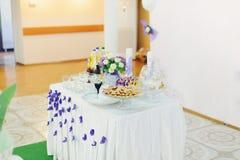 Deseru stół Zdjęcie Stock