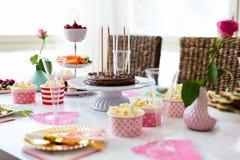 Deseru stół przy przyjęciem obraz royalty free