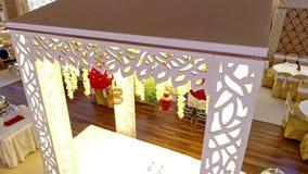 Deseru stół W Pakistańskiej Ślubnej ceremonii Arrangments W Karachi zbiory