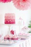 Deseru stół Obrazy Stock
