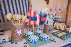 Deseru stół w marina stylu Obraz Royalty Free