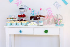 Deseru stół Fotografia Stock