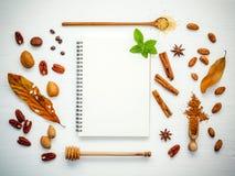 Deseru tło i menu projekt Różnorodne dokrętki pecan, migdał Zdjęcie Stock