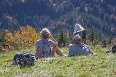 Free Deserved Rest On The Mountain Meadow Stock Photography - 144493332