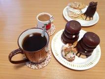 Desery i kawa zdjęcie stock