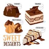 desery słodcy Obrazy Royalty Free