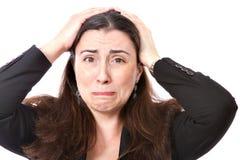 Desesperación de una mujer de negocios foto de archivo libre de regalías