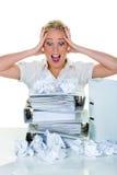 Desesperación por la burocracia Fotografía de archivo libre de regalías