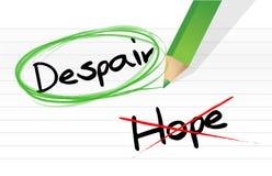 Desesperación sobre el ejemplo de la selección de la esperanza ilustración del vector