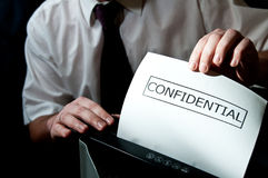 Desfibradora confidencial Imagen de archivo